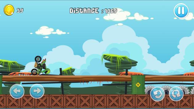 Moto Escape Jungle 2D screenshot 3