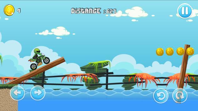 Moto Escape Jungle 2D screenshot 2