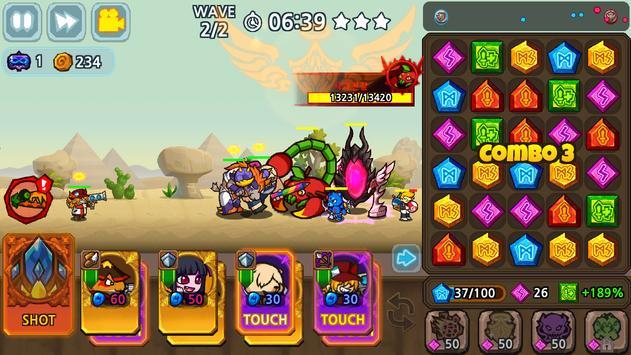 Puzzle & Defense: Match 3 Battle poster