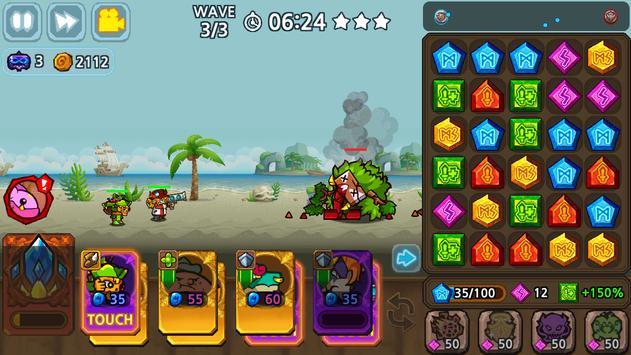 Puzzle & Defense: Match 3 Battle screenshot 1