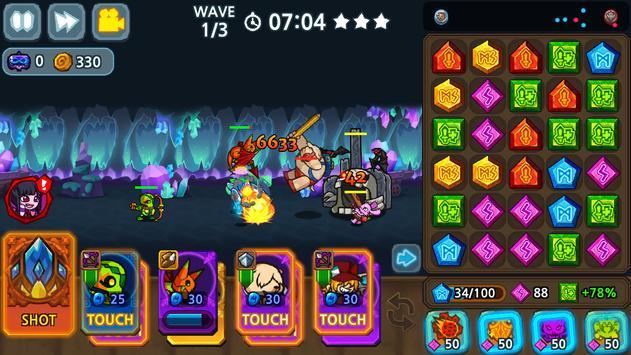 Puzzle & Defense: Match 3 Battle screenshot 4