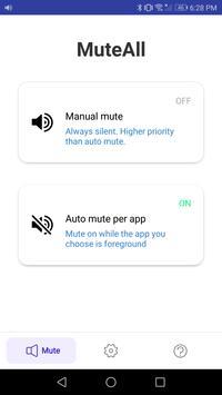 MuteAll Pro  - Mute sounds(Camera, Video etc) screenshot 4