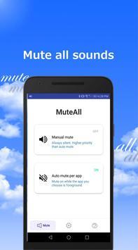 MuteAll Pro  - Mute sounds(Camera, Video etc) poster