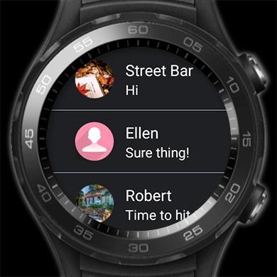 Handcent next sms (best texting with mms,stickers) for android.