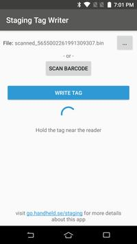 MaxGo Staging Tag Writer screenshot 2