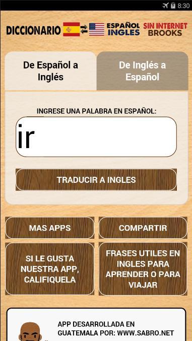 Spanish English Dictionary Translate