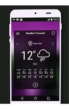 weather app poster