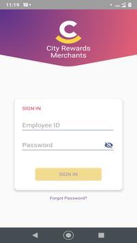 City Rewards Merchant poster