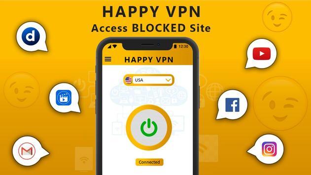 Happy Free VPN – Unlimited Open & Pure VPN Client screenshot 5