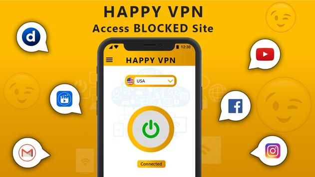 Happy Free VPN – Unlimited Open & Pure VPN Client poster