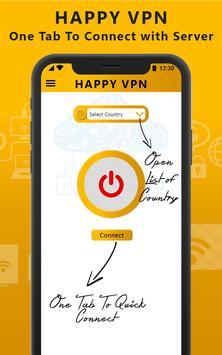Happy Free VPN – Unlimited Open & Pure VPN Client screenshot 1
