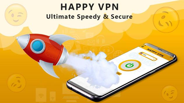 Happy Free VPN – Unlimited Open & Pure VPN Client screenshot 2