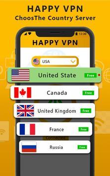 Happy Free VPN – Unlimited Open & Pure VPN Client screenshot 3