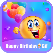 Happy Birthday GIFs & Love Roses Sticker-icoon