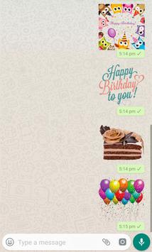 Happy Birthday Stickers 2019 for Whatsapp poster