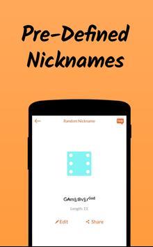 Nickname Fire 🔥 : Free Nickfinder App 💎 screenshot 1