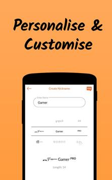 Nickname Fire 🔥 : Free Nickfinder App 💎 screenshot 2