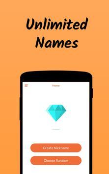 Nickname Fire 🔥 : Free Nickfinder App 💎 screenshot 3