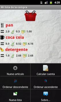 Mi lista de la compra screenshot 1