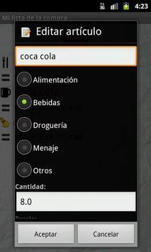 Mi lista de la compra screenshot 3