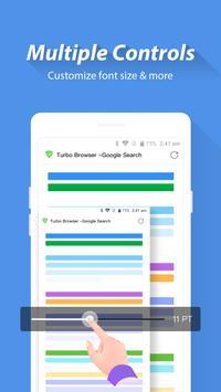Turbo Browser: Private & Adblocker & Fast Download screenshot 4