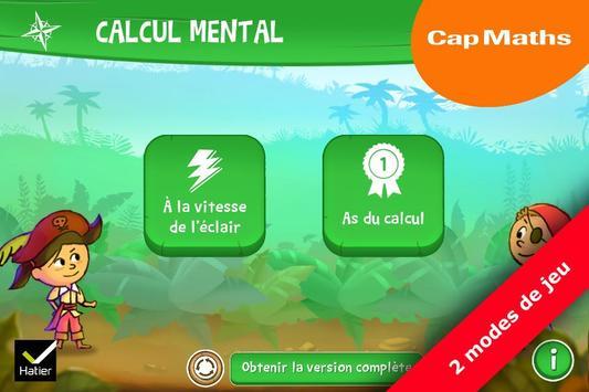 Cap maths CP, CE1, CE2 poster