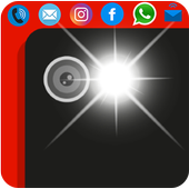 Flash light alert : call/sms icon