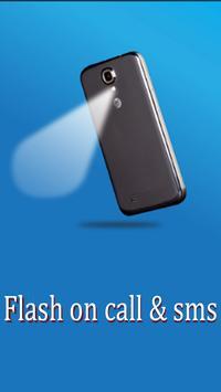Flash light alert : call/sms poster