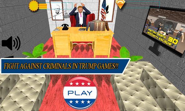 White House Escape - Trump poster