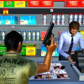Supermarket Robbery Crime City Real Gangster Games icon