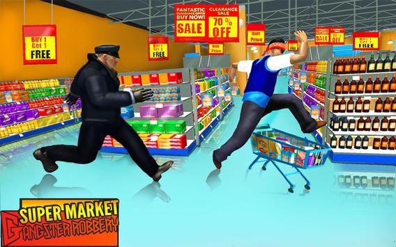 Supermarket Robbery Crime City Real Gangster Games screenshot 1