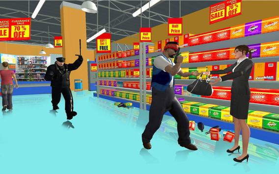 Supermarket Robbery Crime City Real Gangster Games screenshot 2