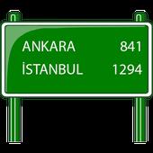 Distance Between Turkey Cities icon