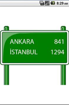 Distance Between Turkey Cities poster