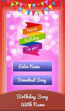Birthday Song With Name Wishes Video Maker Poster