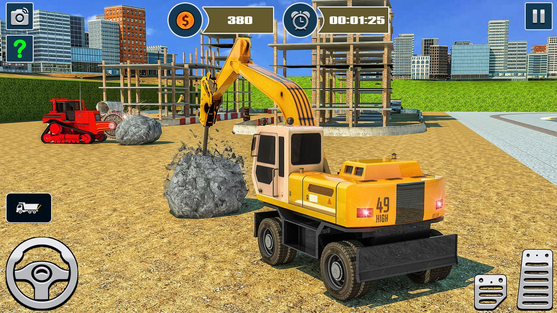 Heavy Excavator Demolish Construction Game For Android Apk