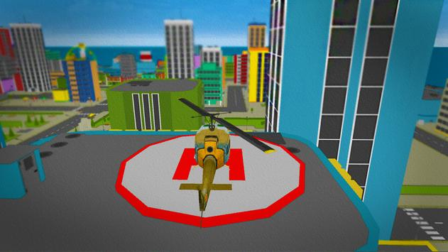 Helicopter City Simulation 3D: Transport & Rescue screenshot 3