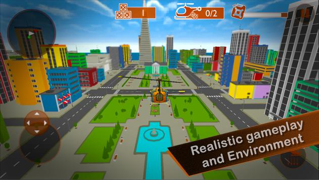 Helicopter City Simulation 3D: Transport & Rescue screenshot 13
