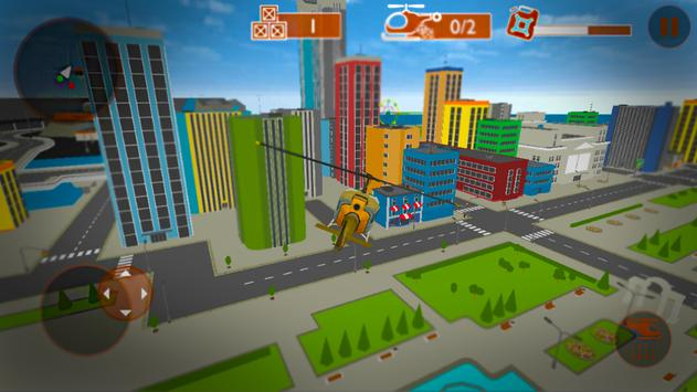 Helicopter City Simulation 3D: Transport & Rescue screenshot 14