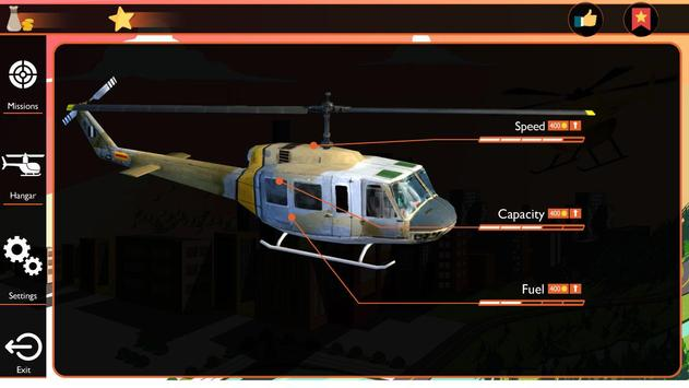 Helicopter City Simulation 3D: Transport & Rescue screenshot 2