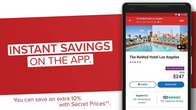 Hotels.com screenshot 1