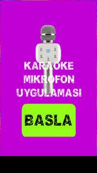 Karaoke Mikrofon Uygulaması poster