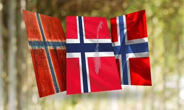 Norway Flag Wallpaper poster