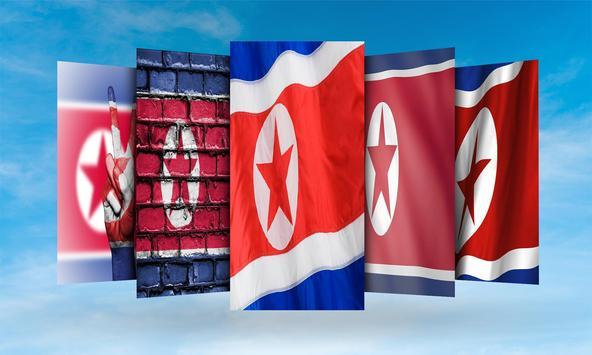 North Korea Flag Wallpaper screenshot 1