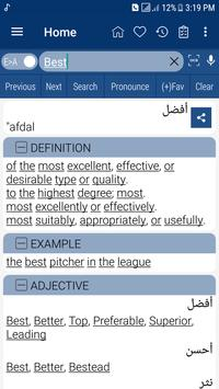 English Arabic Dictionary poster