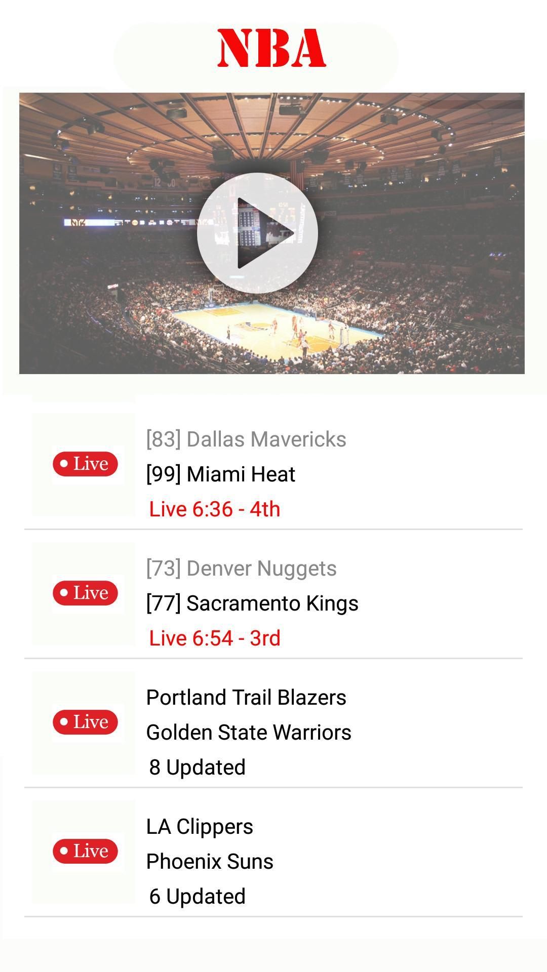 Watch Nba Basketball Live Streaming For Free安卓下載 安卓