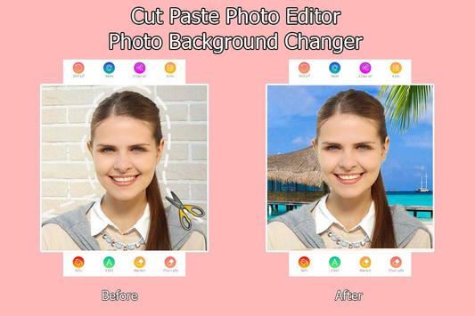 Cut Paste Photo Editor - Photo Background Changer poster