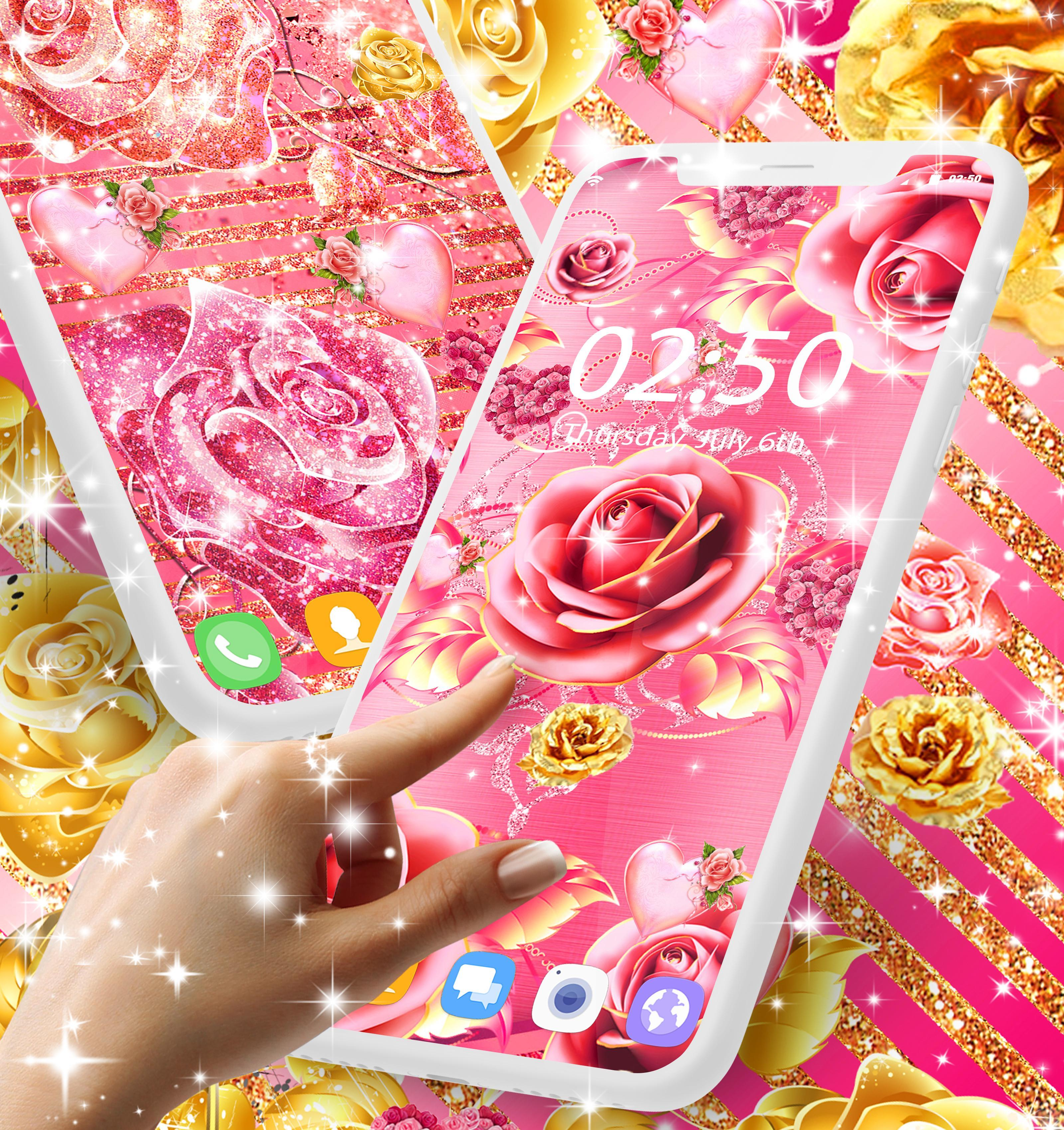 Pink Rose Gold Live Wallpaper For Android APK Download