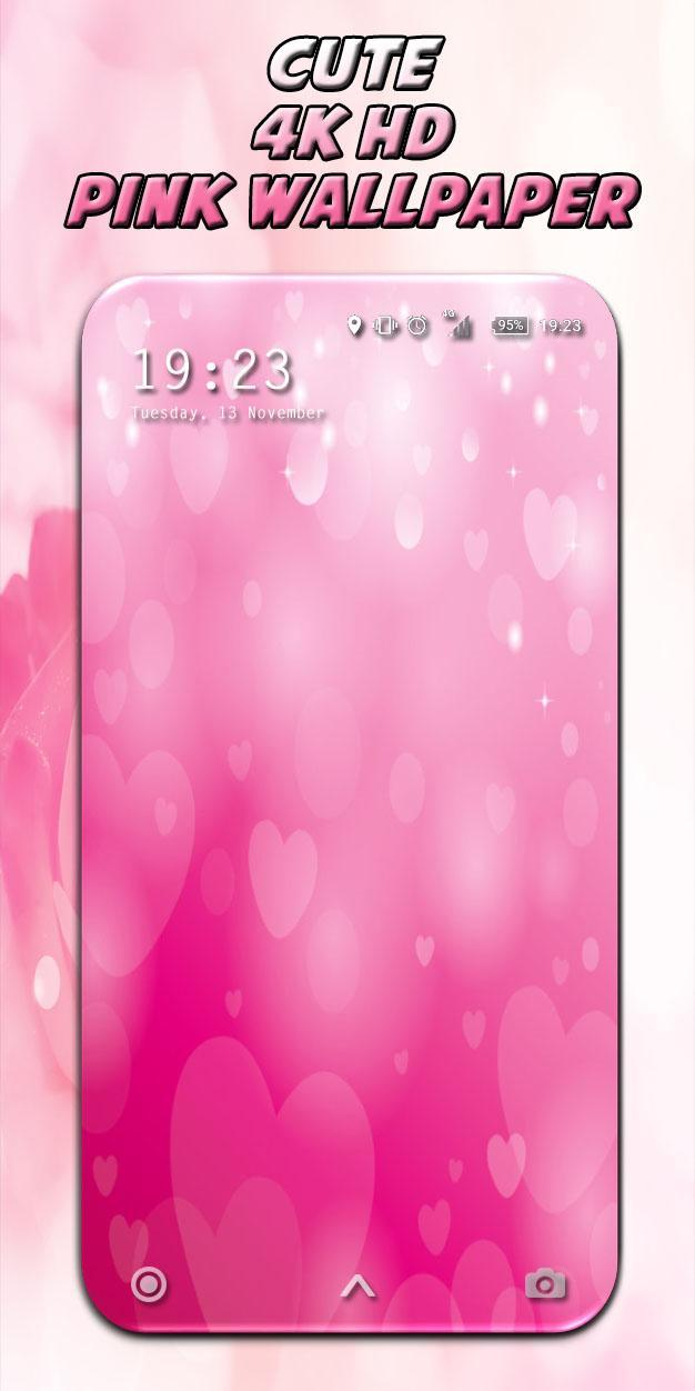Glitter Pink Love Heart Theme 4k Wallpapers 2019 For