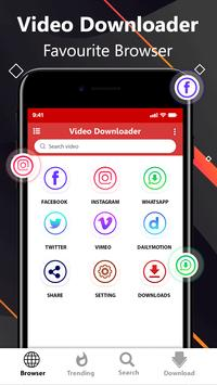 Free video downloader app - save from net poster